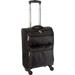 420 Jacquard, light weighted trolley with 4 wheels, black (6221-01)
