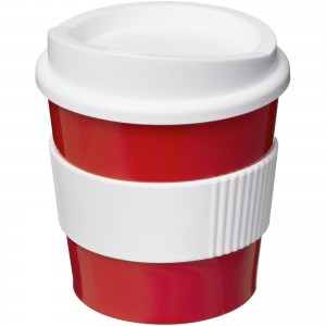 Americano<sup>®</sup> primo 250 ml tumbler with grip, Red,White (21001017)