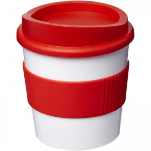 Americano<sup>®</sup> primo 250 ml tumbler with grip, White,Red (21001010)