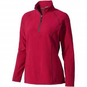 Bowlen polyfleece quarter zip ladies, Red (3949525)