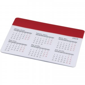 Chart mouse pad with calendar, Red (13496502)