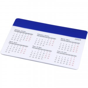 Chart mouse pad with calendar, Royal blue (13496501)