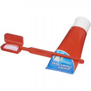 Dana toothbrush with squeezer, Red (12613702)