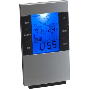 Desk or wall weather station, silver (4789-32)