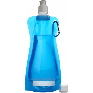Foldable water bottle (420ml), light blue (7567-18CD)