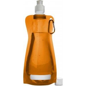Foldable water bottle (420ml), orange (7567-07)