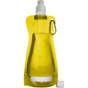 Foldable water bottle (420ml), yellow (7567-06)