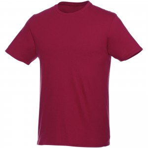 Heros short sleeve unisex t-shirt, Burgundy (3802824)