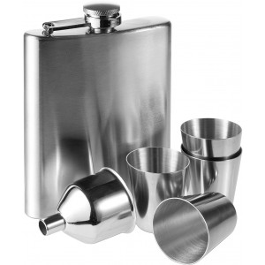 Hip flask, silver (2807-32CD)