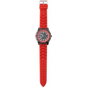 Large, alloy and mineral glass watch for men, Red (6495-08)