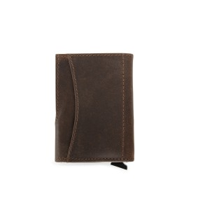 Leather wallet with RFID card holder, Brown (8193-11)