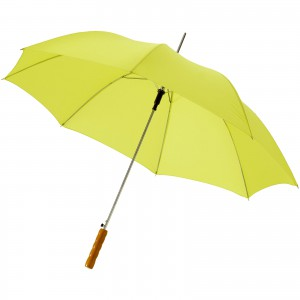 Lisa 23 auto open umbrella with wooden handle, neon green (10901714)
