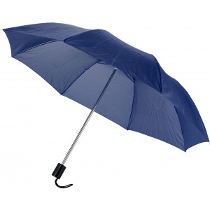 Manual foldable polyester (190T) umbrella, blue (4092-05)