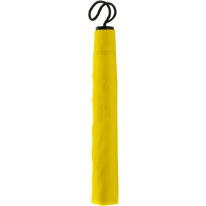 Manual foldable polyester (190T) umbrella, yellow (4092-06)