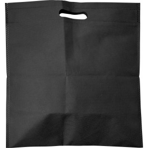 Nonwoven carry/document bag, black (7858-01)