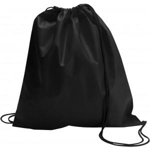 Nonwoven drawstring backpack, black (6232-01CD)