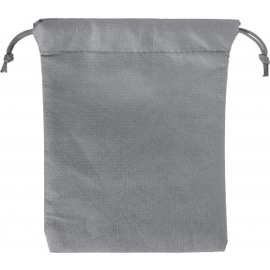 Nonwoven, drawstring pouch, grey (8279-03)