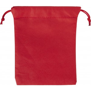Nonwoven, drawstring pouch, red (8279-08)