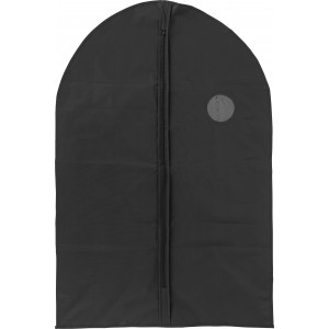 PEVA garment bag with a zipper, black (6449-01)