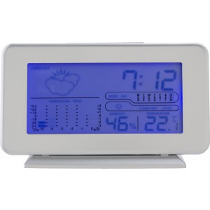 Plastic digital weather station., silver (6866-32)