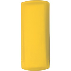 Plastic pocket case with five plasters, yellow (1020-06)