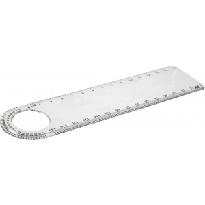 Plastic transparent ruler (15cm), neutral (7284-21)
