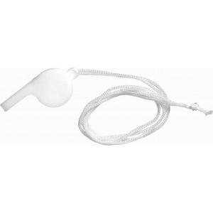 Plastic whistle, white (7060-02)