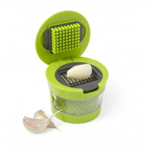 Plastic with stainless steel garlic cutter, lime (7263-19)