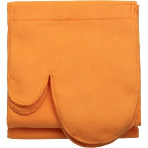 Polar fleece scarf with glove, Orange (1798-07)