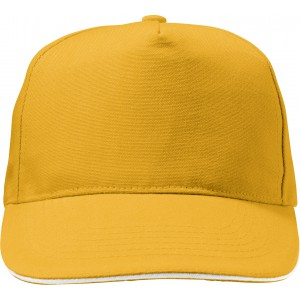 Polycanvas (600D) five panel sandwich cap, yellow (7492-06)