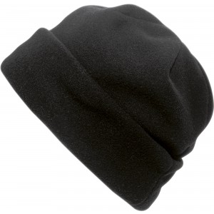 Polyester fleece beanie., black (1741-01)