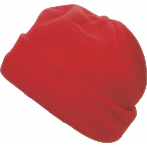 Polyester fleece beanie., red (1741-08)