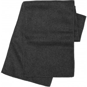 Polyester fleece scarf, black (1743-01)