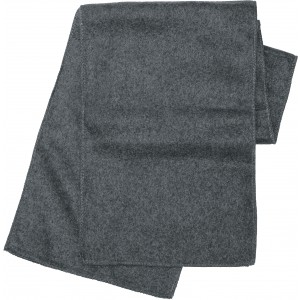 Polyester fleece scarf, grey (1743-03)