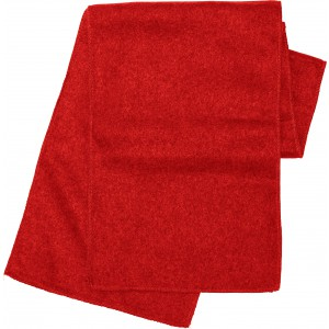 Polyester fleece scarf, red (1743-08)