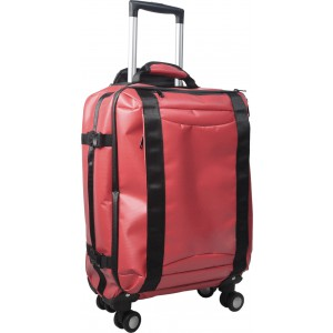 PVC trolley case, red (7742-08)