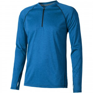 Quadra long sleeve cool fit men's t-shirt, HEATHER BLUE (3902353)
