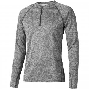 Quadra long sleeve cool fit men's t-shirt, Heather Charcoal (3902398)