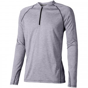 Quadra long sleeve cool fit men's t-shirt, HEATHER GREY (3902394)