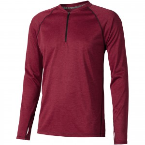 Quadra long sleeve cool fit men's t-shirt, Heather red (3902327)