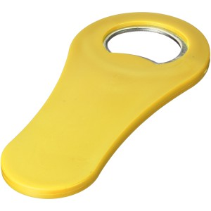 Rally magnetic drinking bottle opener, Yellow (11260807)