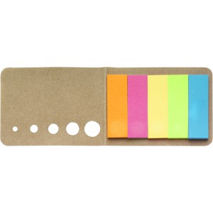 Self adhesive memo's, brown (Sticky notes)