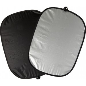 Set of two polyester sun screens, silver (7832-32)