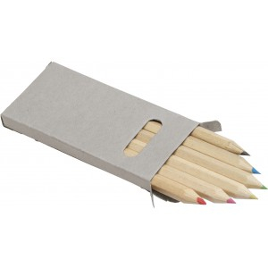 Six colour pencil set, no colour (2432-00CD)
