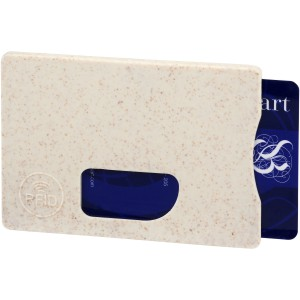 Straw RFID card holder, beige (13510100)