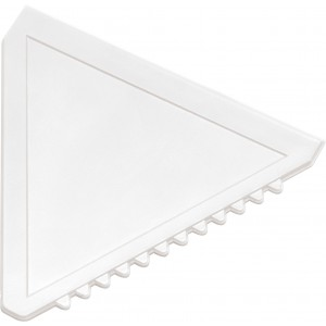 Triangular plastic ice scraper, white (8761-02)