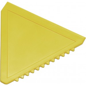 Triangular plastic ice scraper, yellow (8761-06)