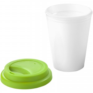 Zamzam 330 ml insulated tumbler, White,Lime green (Thermos)